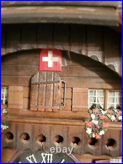 Wood Swiss Mountain Chalet Cuckoo Clock