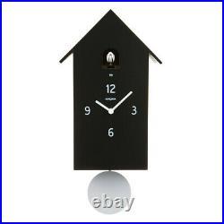 ZUBA black Pendulum Wall Cuckoo Clock Diamantini Domeniconi