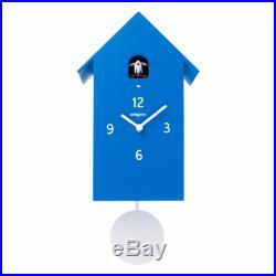 ZUBA blue Wall Cuckoo and Pendulum Clock Meridiana